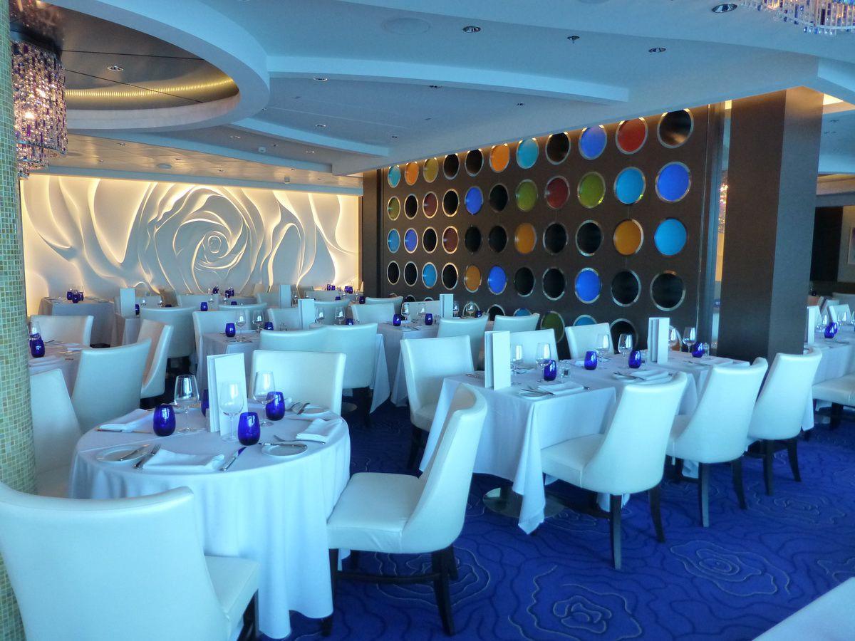 Blu Restaurant on the Celebrity Reflection cruise ship
