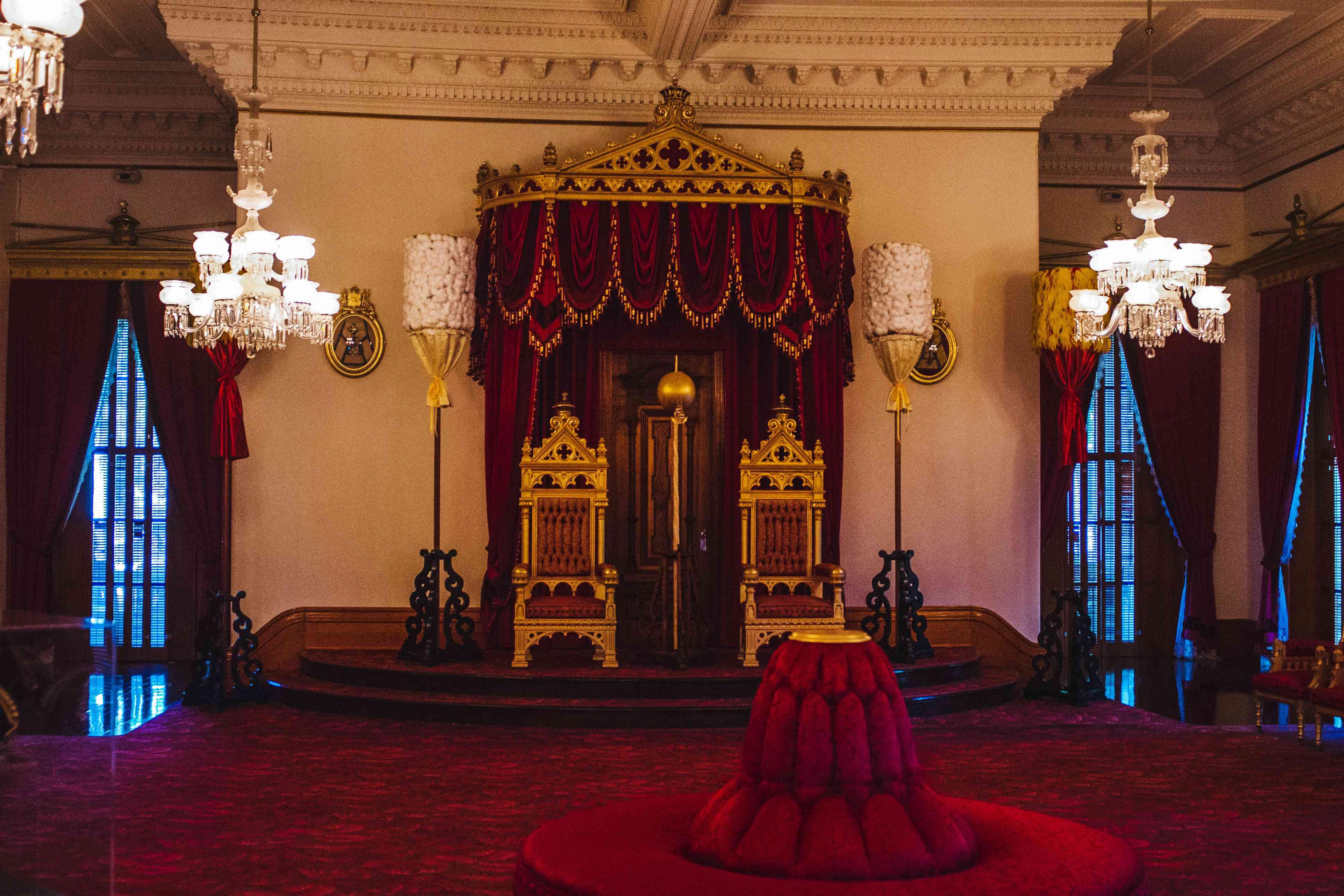Interior of Iolani Palace