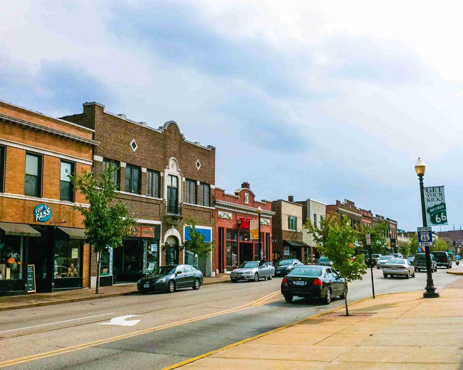 Manchester Road in Maplewood Missouri