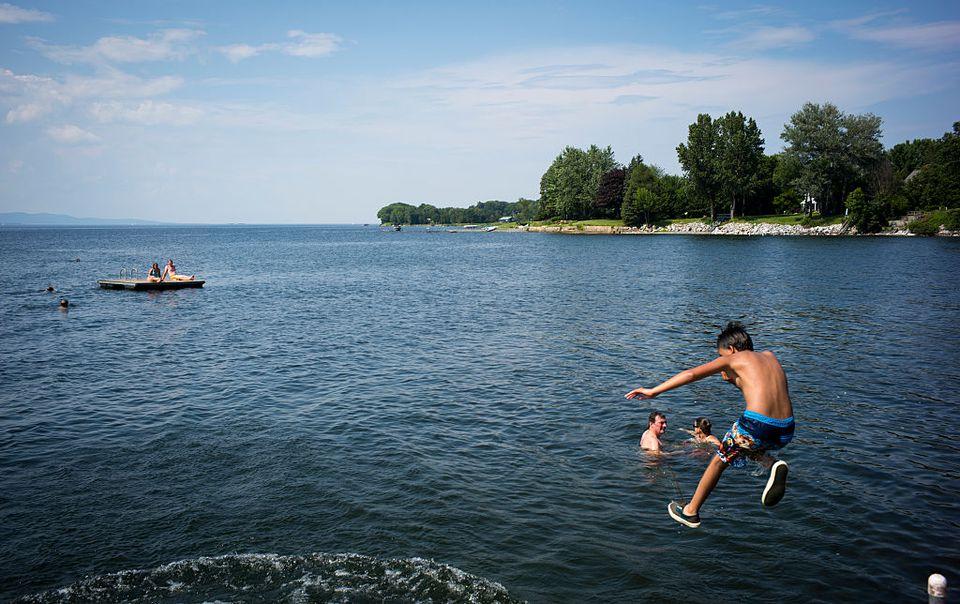 Swimming In Lake Champlain, Vermont