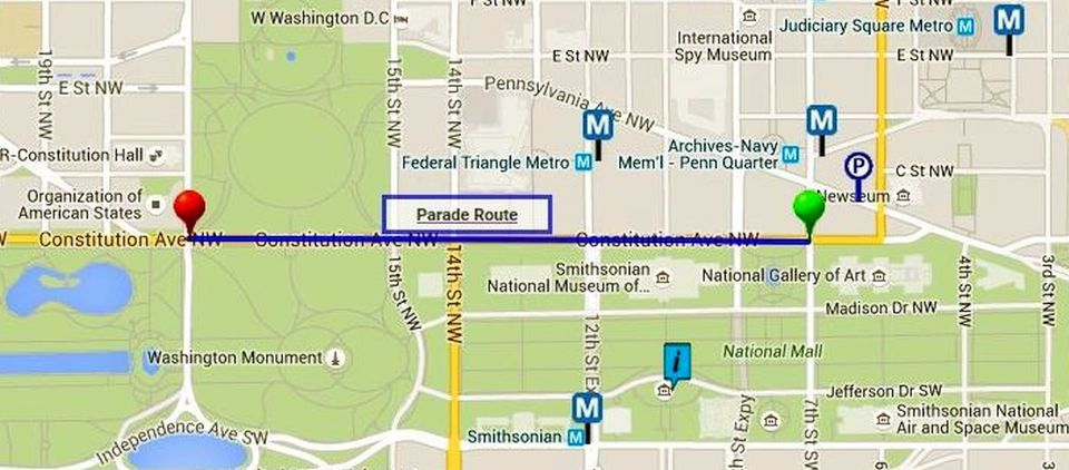 Mall Dc Map.Washington Dc 4th Of July Parade Route Map