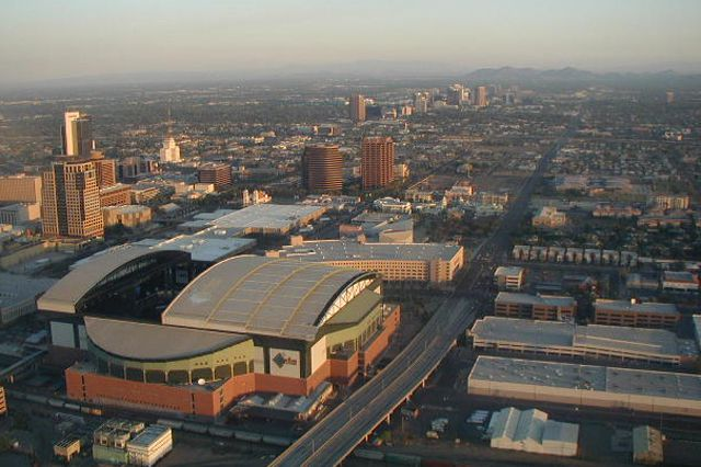 Aerial View of Chase Field in Phoenix