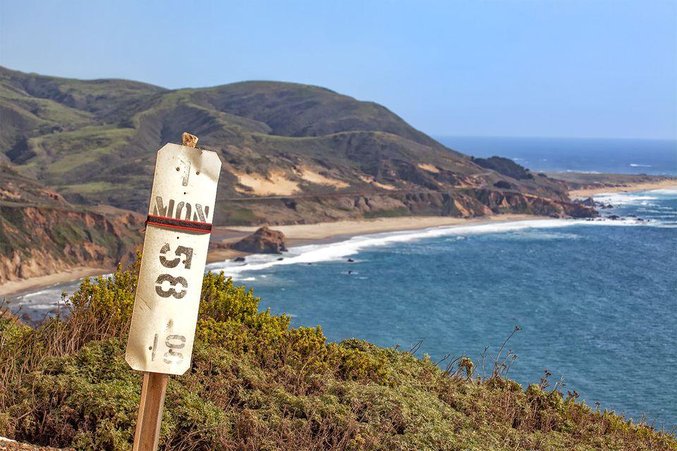 Calfornia Mileage Marker