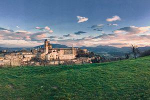 Scenic View of Urbino, Italy