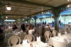 The Enchanted Garden dining venue on Disney Dream Cruise Line.