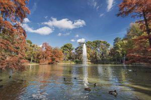 Park in Madrid, Spain, in autumn