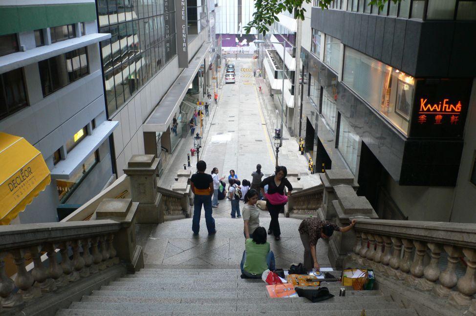 Duddell Street in Hong Kong.