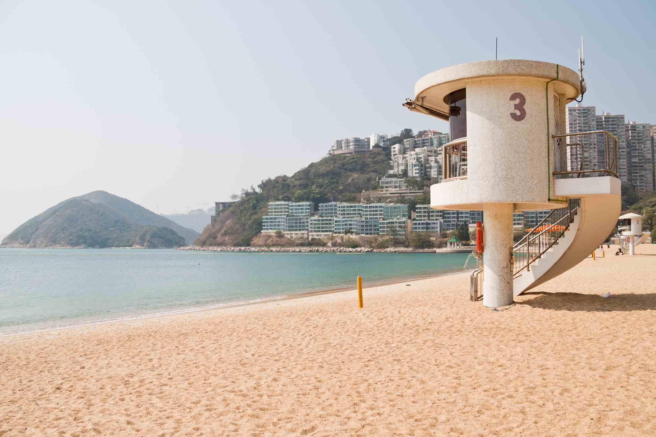 Lifeguard station at Repulse Bay, Hong Kong