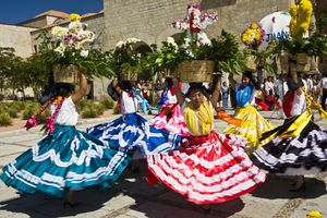 Guelaguetza dancers in Oaxaca