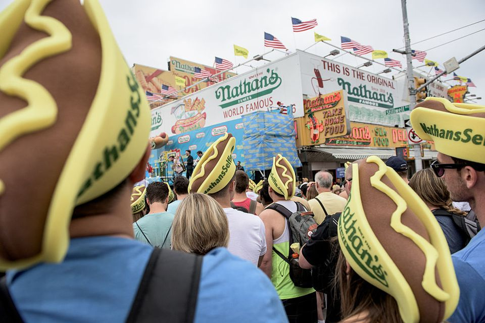 Annual July 4th hot dog eating contest held at Nathan's in Coney Island