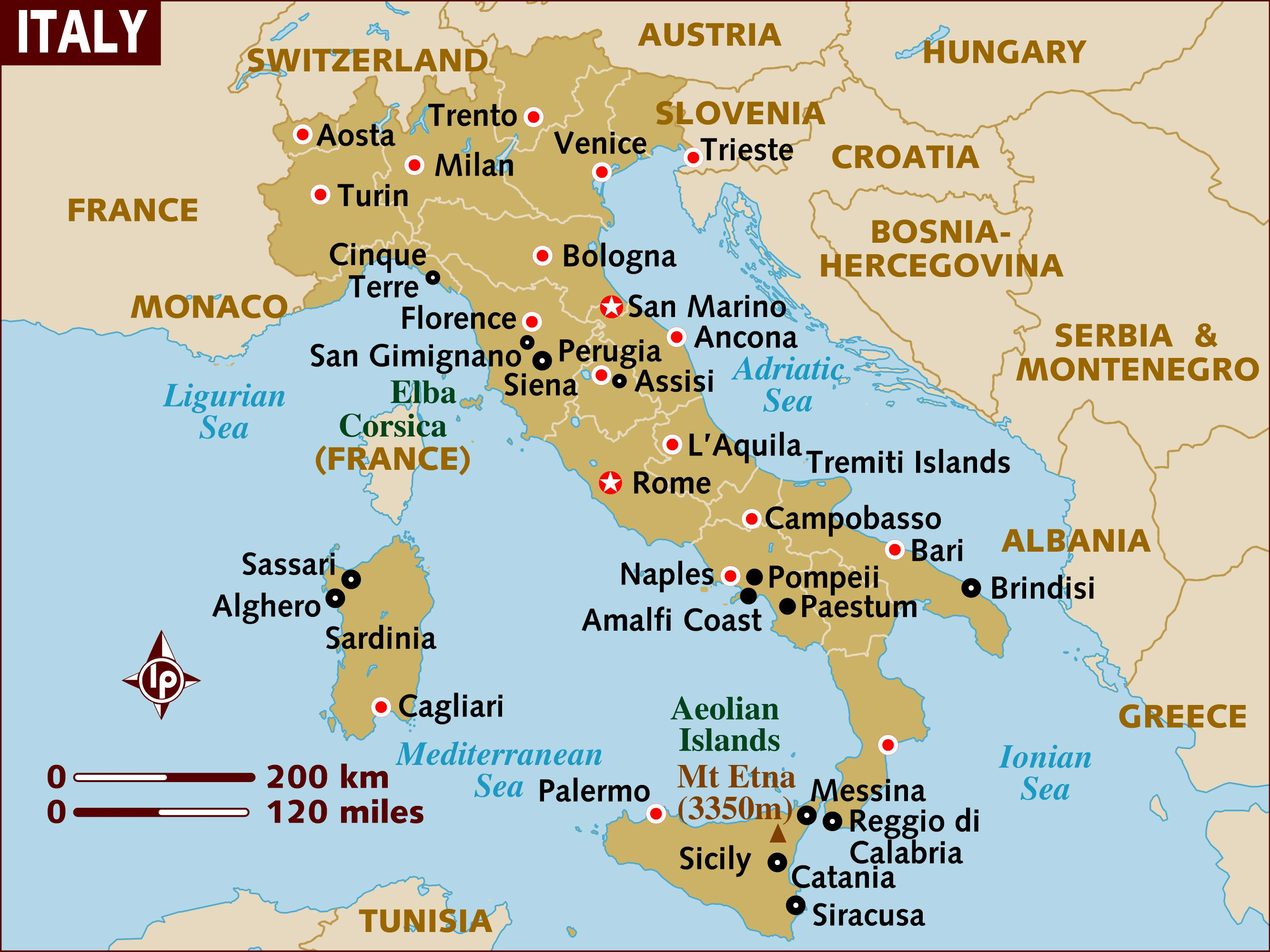 Map Of Italy Lakes Region.The Geography Of Italy Map And Geographical Facts