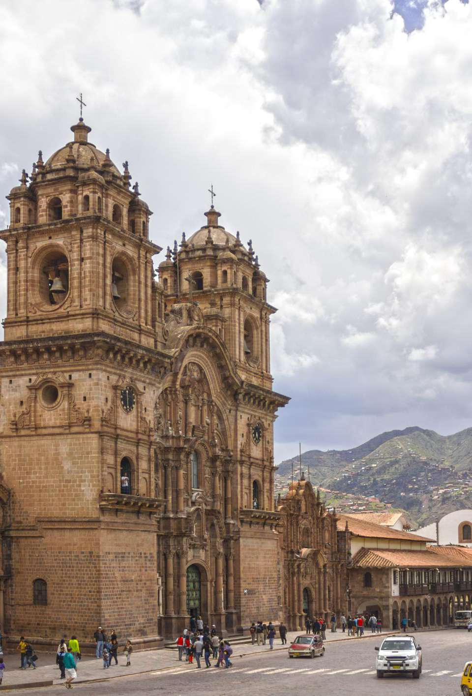 Church of the Society of Jesus, view from the Plaza de Armas, Cuzco.
