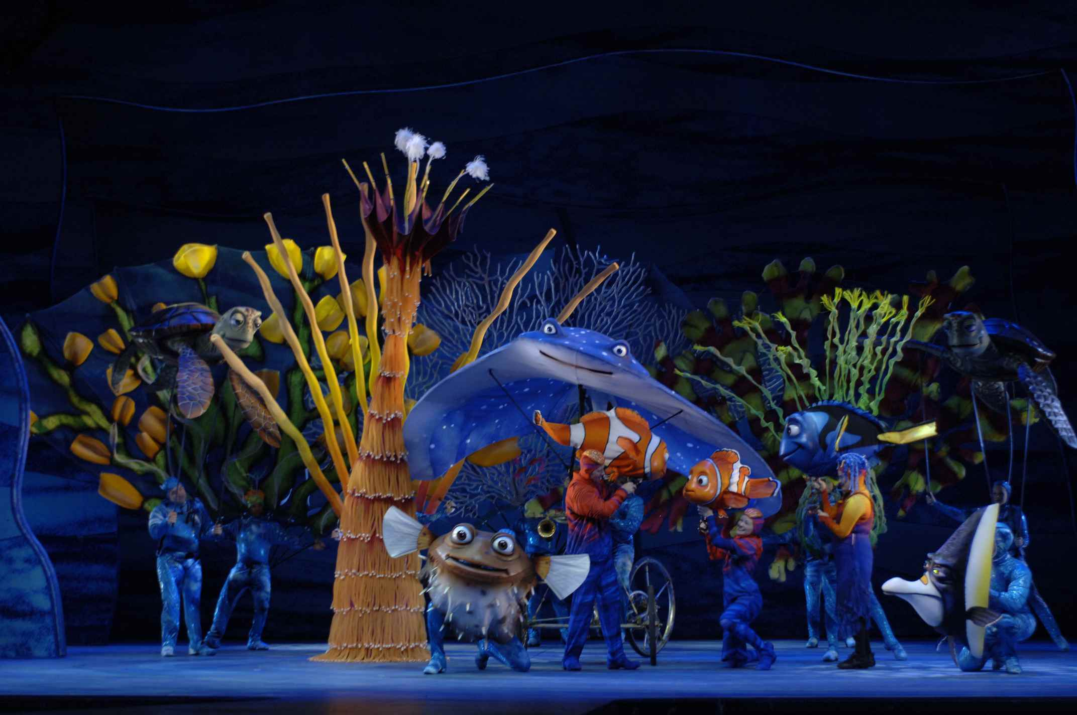 performers in Finding Nemo the Musical at Disney's Animal Kingdom