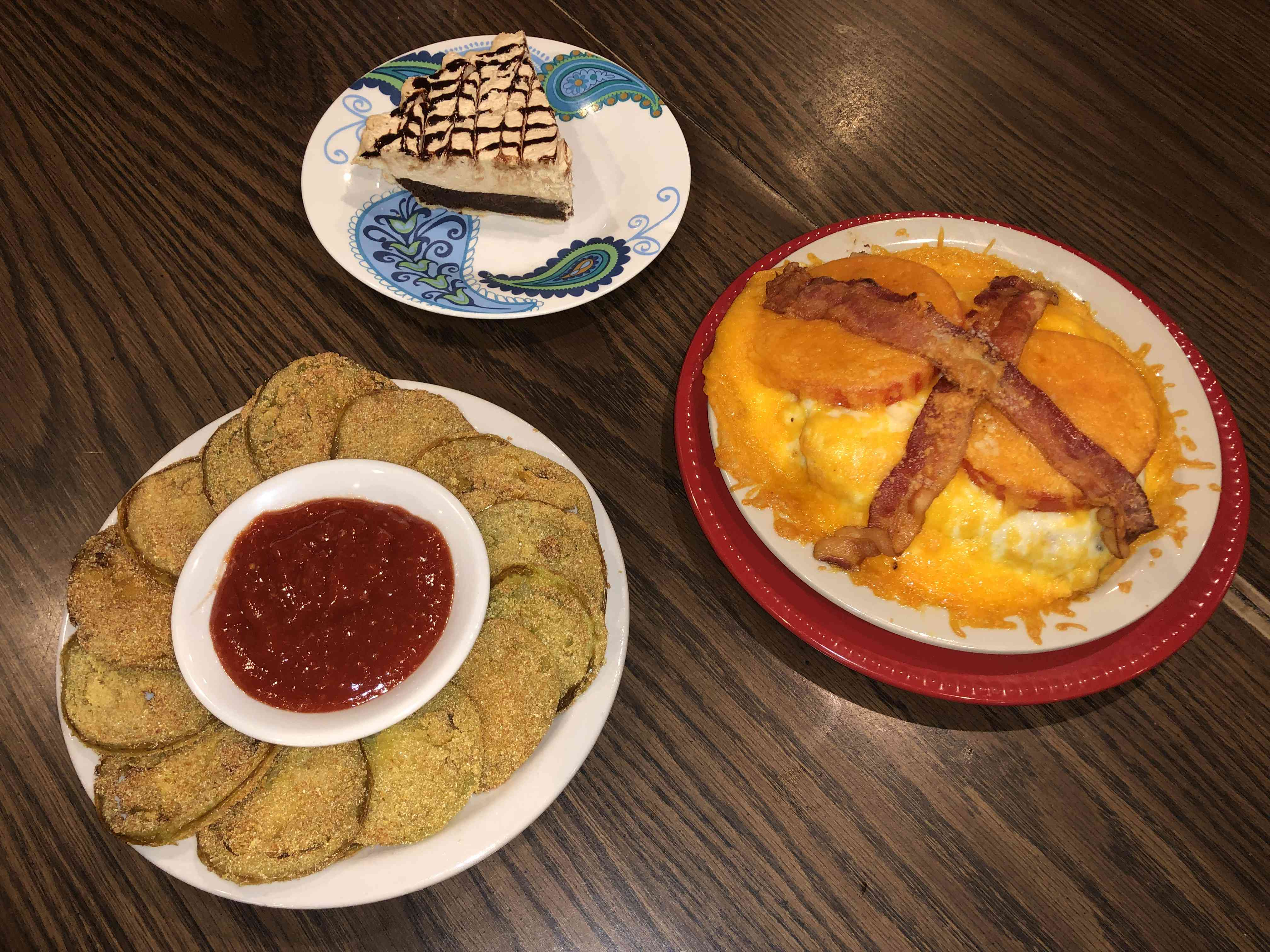 Southern cuisine on a table at Ramsey's Diner in Lexington
