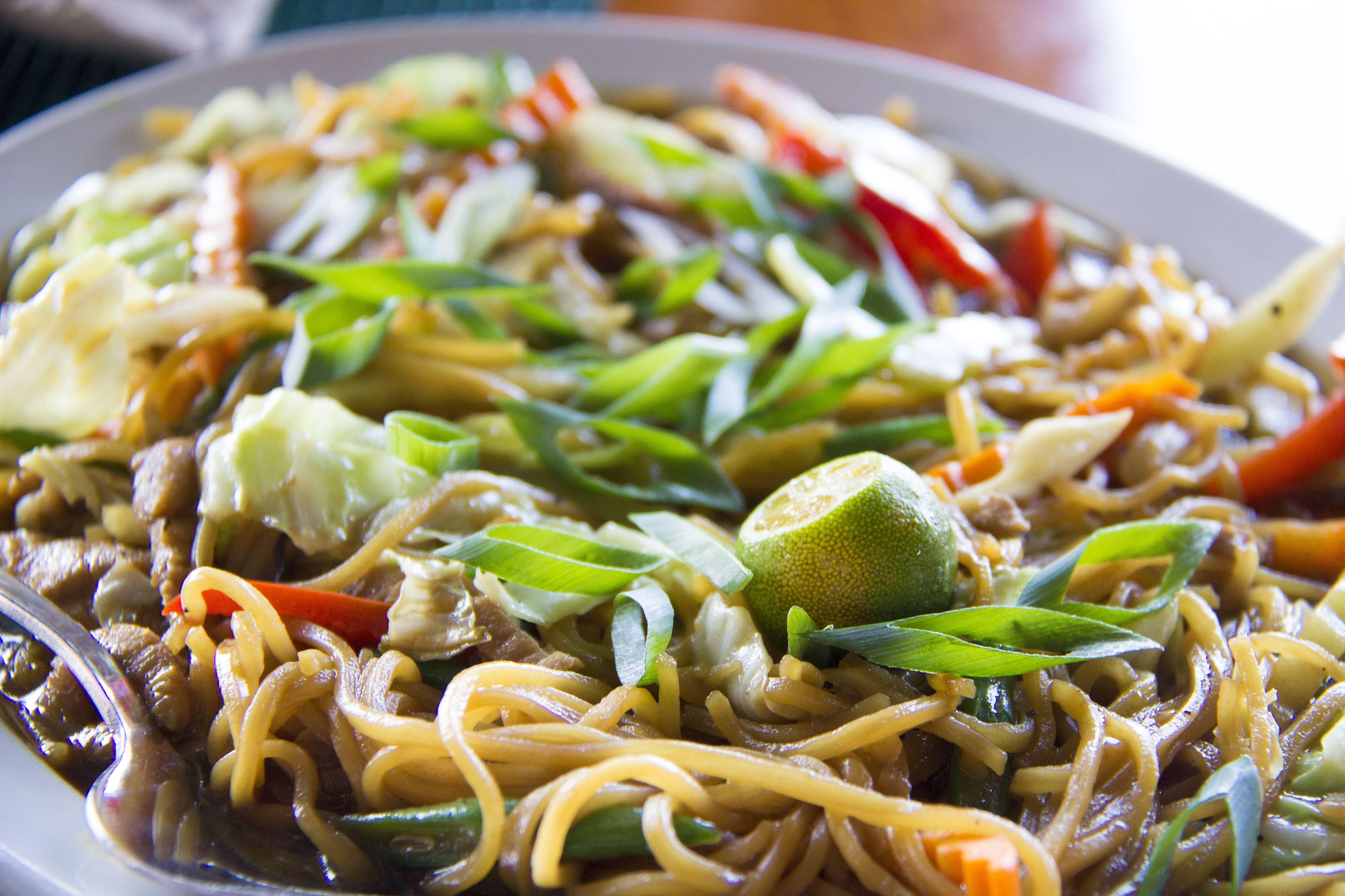Pancit canton, a dish in the Philippines
