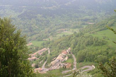 Montsegur Village from above.