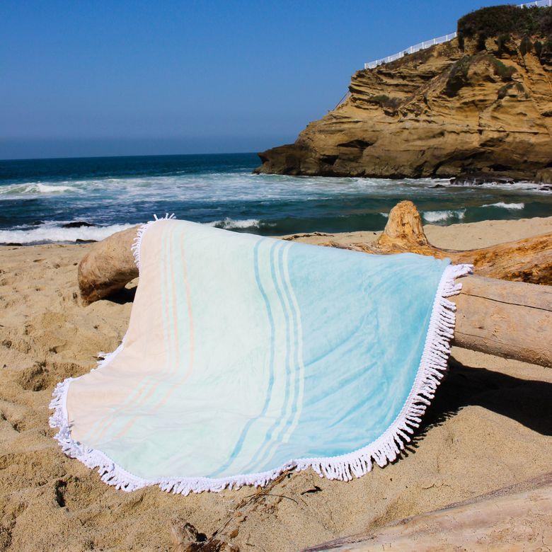 Laguna Beach Textile Company Round Beach Towel