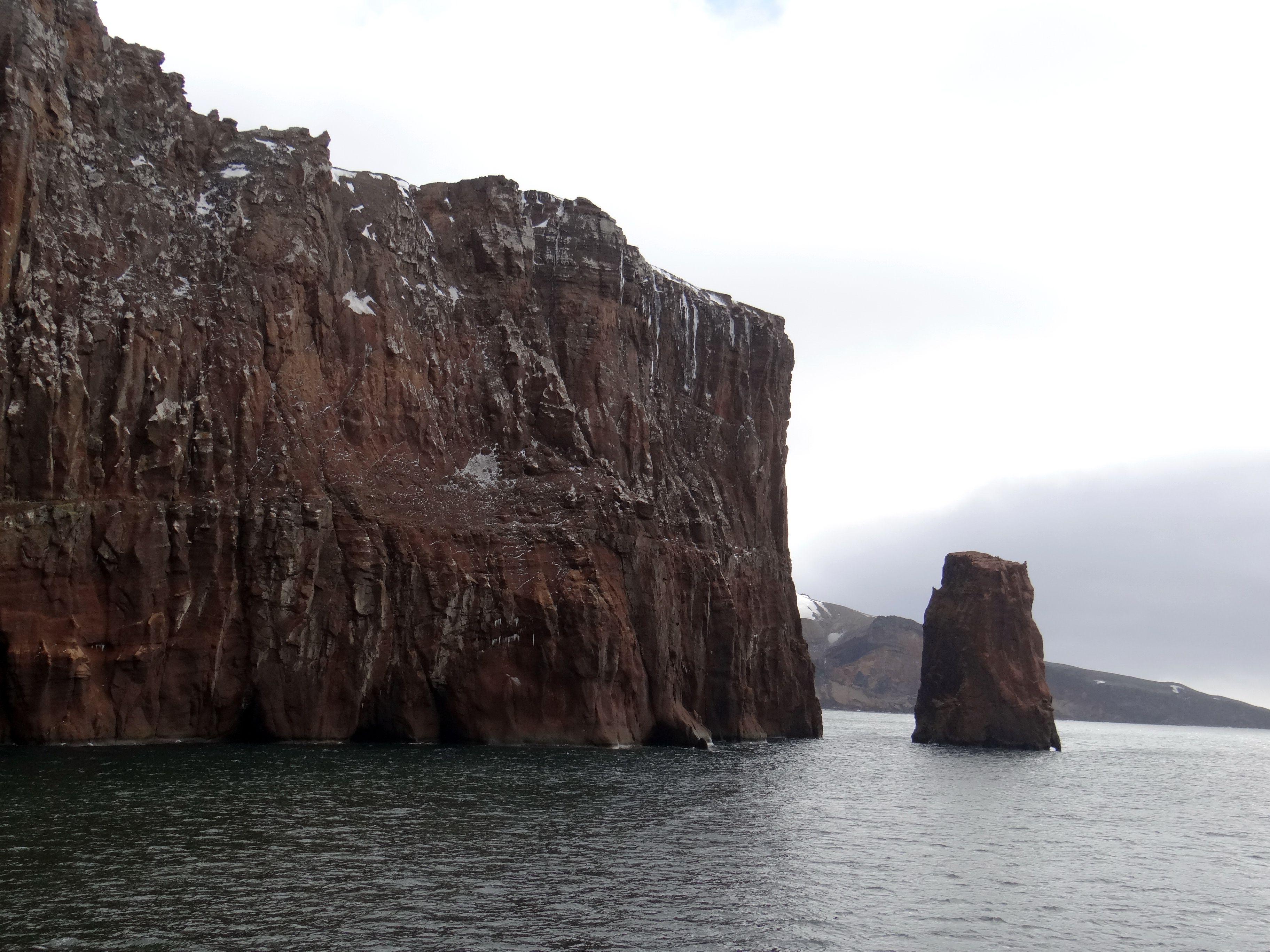 Deception Island in Antarctica