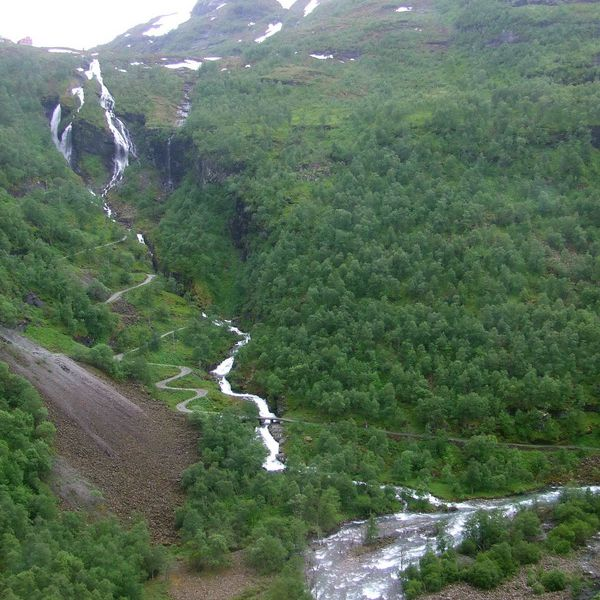 Waterfall - Flam to Voss Railway near the Fjords of Norway