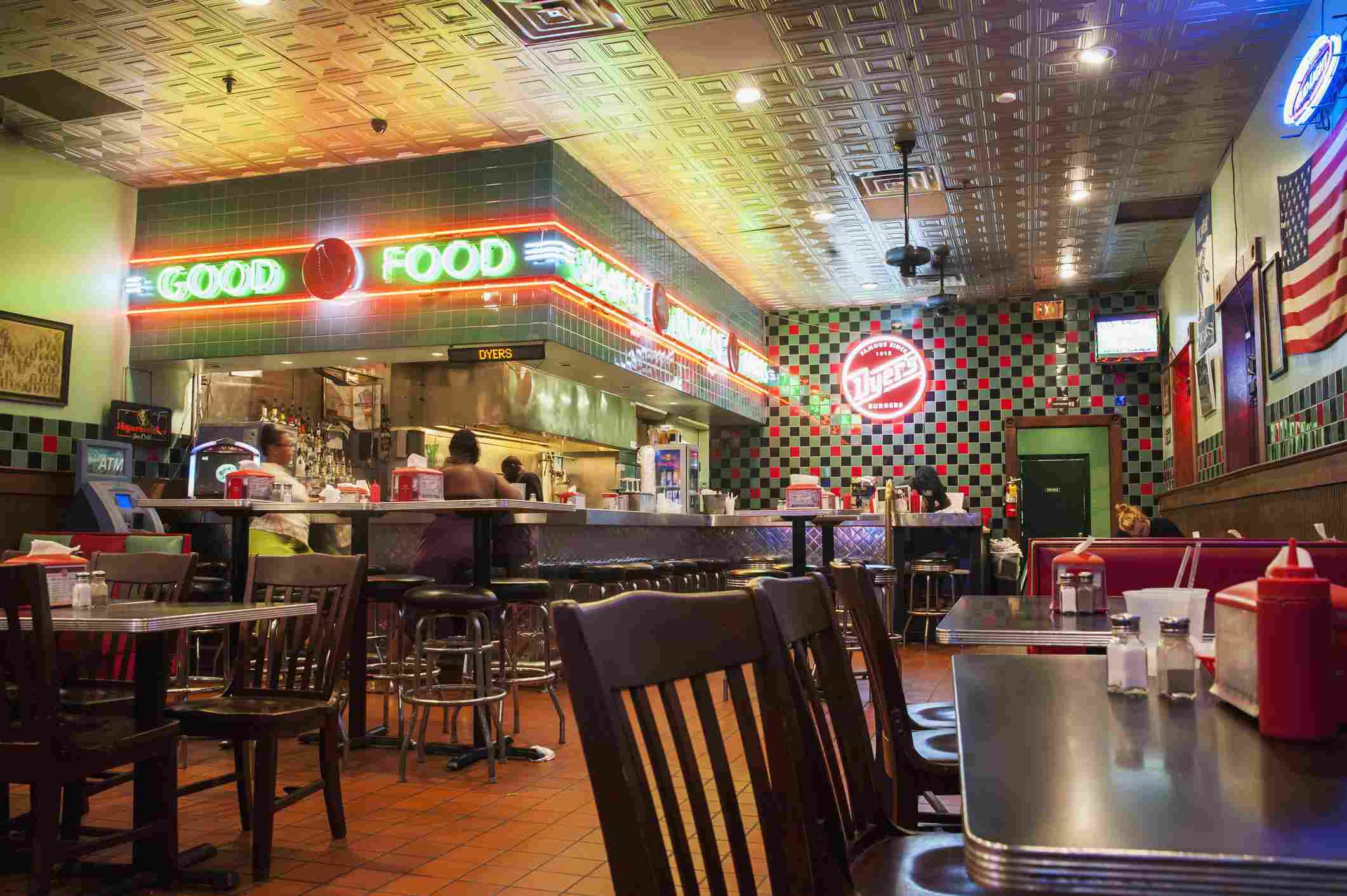 Usa, Tennessee, Beale Street; Memphis, Dyers Diner