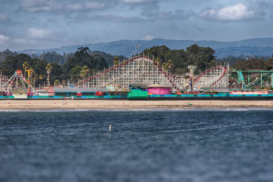 Santa Cruz Beach Boardwalk from the Pier