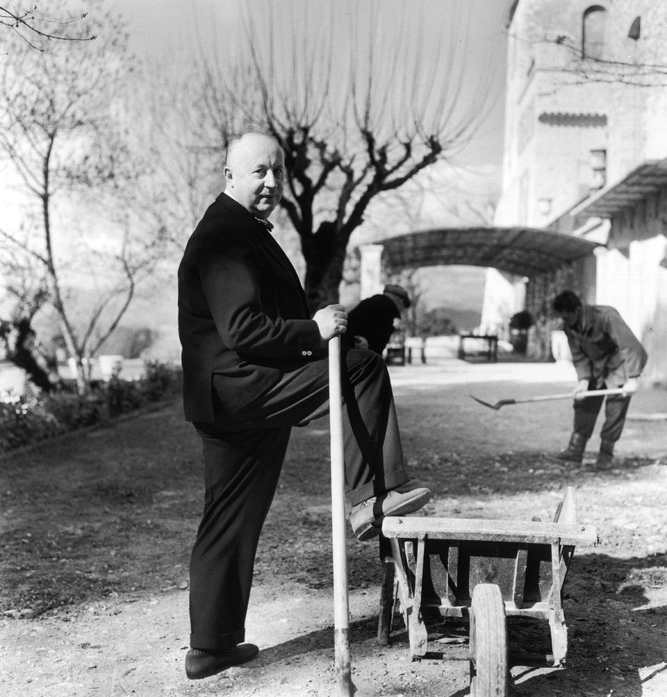 Dior poses as a gentleman farmer in La Colle Noire, his home in Montauroux