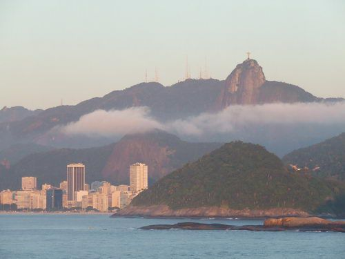 Rio de Janeiro - Corcovado Mountain in the Early Morning