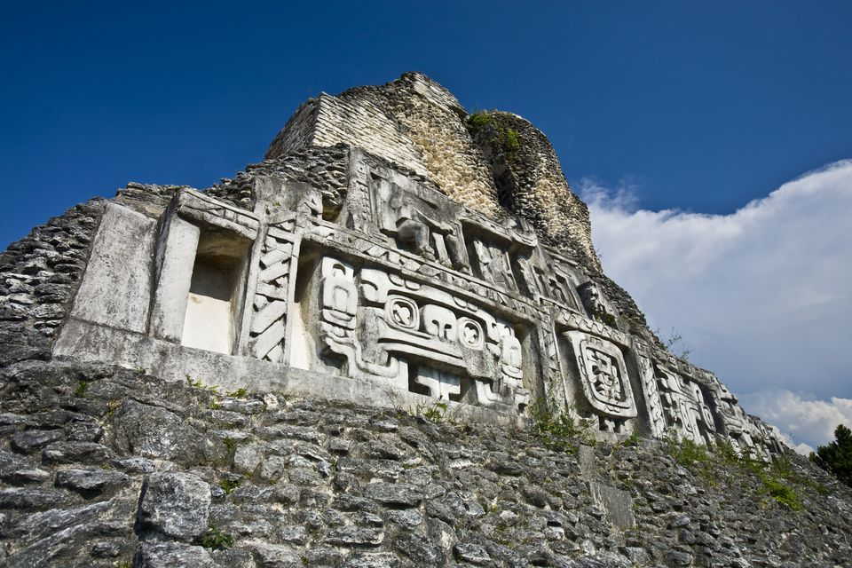 The Freeze on El Castillo at the Mayan ruins of Xunantunich