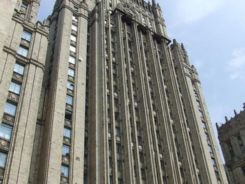 Foreign Ministry Building, One of Moscow's Seven Stalinist-Gothic Skyscrapers