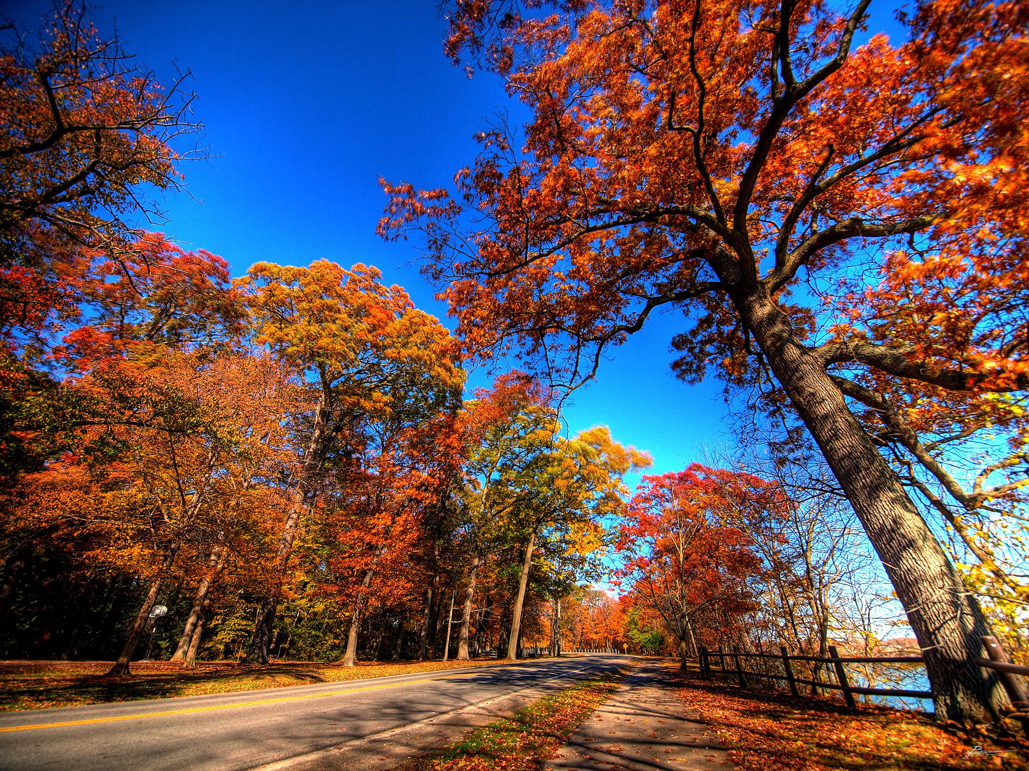Roadway at Niagara-on-the-Lake in Ontario.