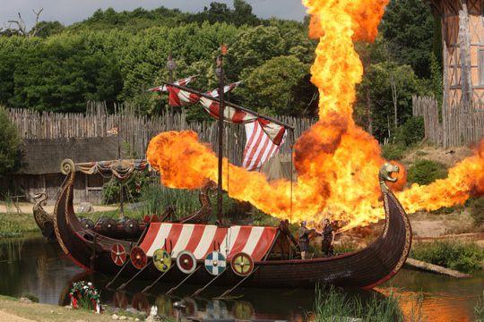 Viking Ship at Puy du Fou Theme Park