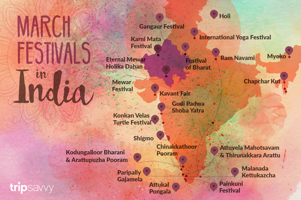 March Festivals in India
