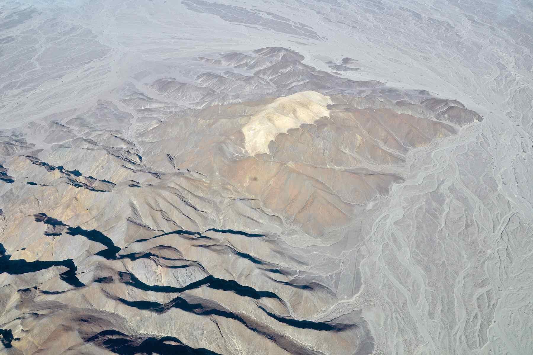 Aerial photo of Cerro Blanco in Peru