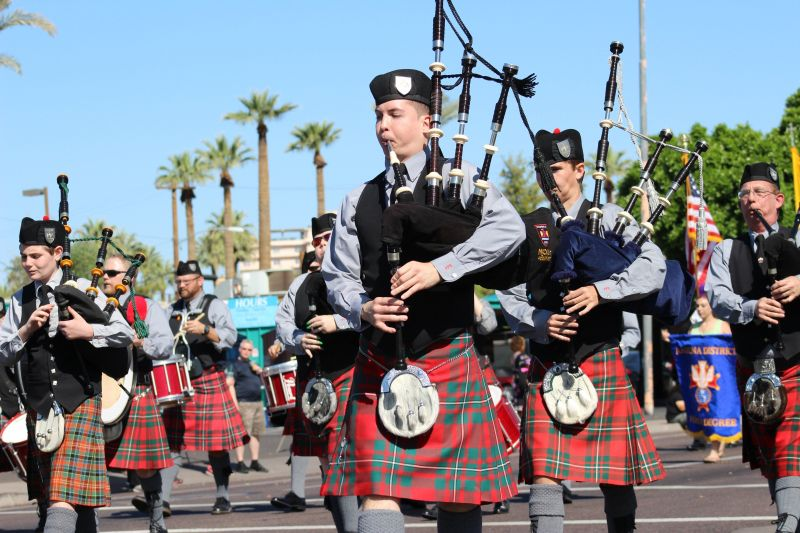 Bagpipers in Phoenix St. Patrick's Day Parade