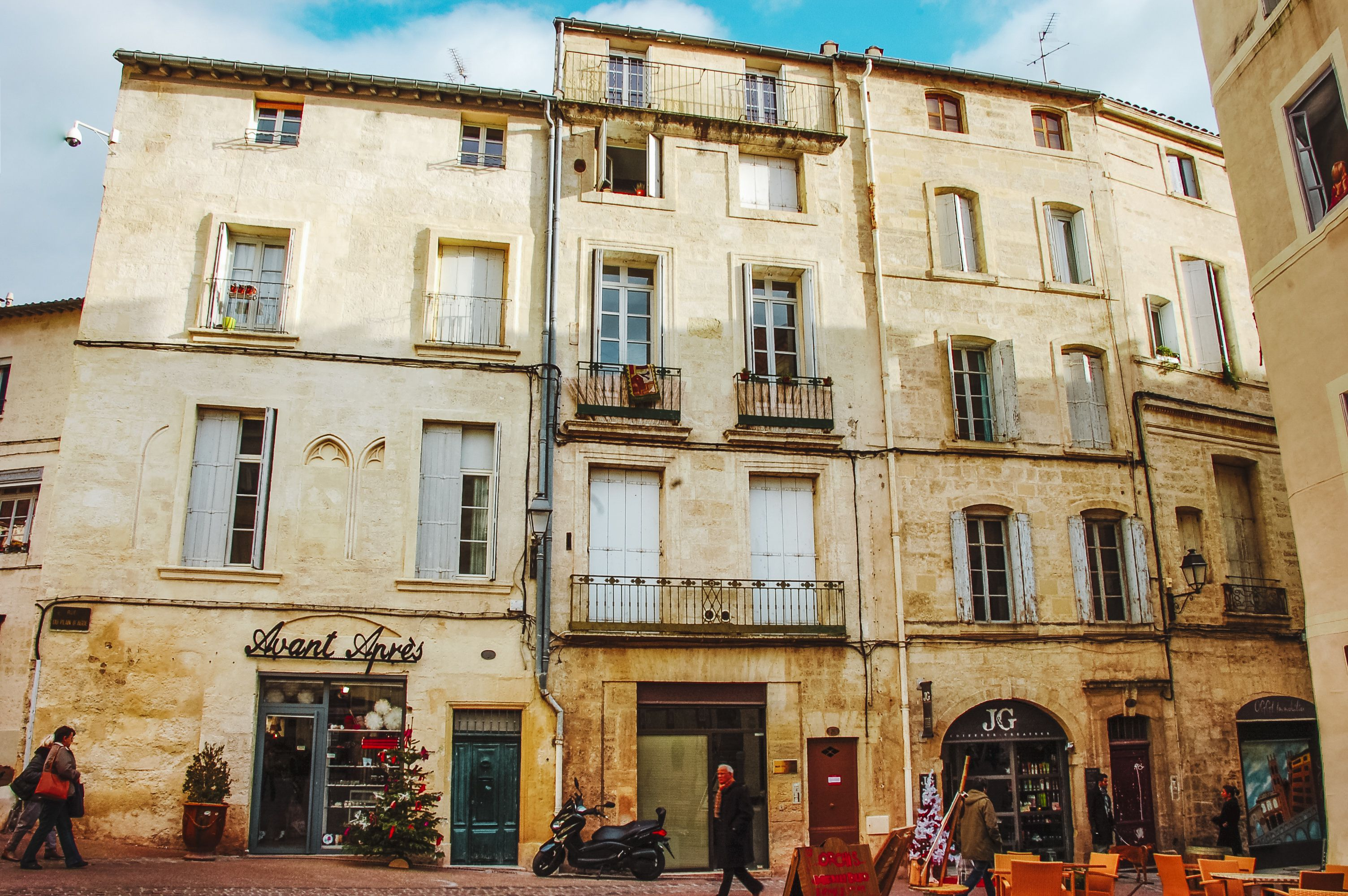 Old buildings in Montpellier