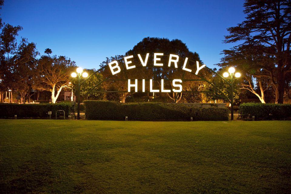 Signo de Beverly Hills en California