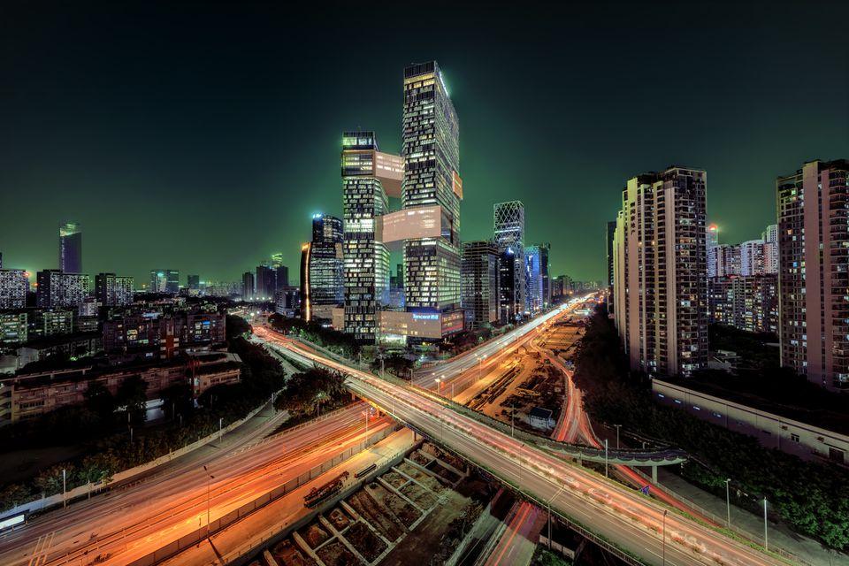 Tencent edificio en shenzhen, china