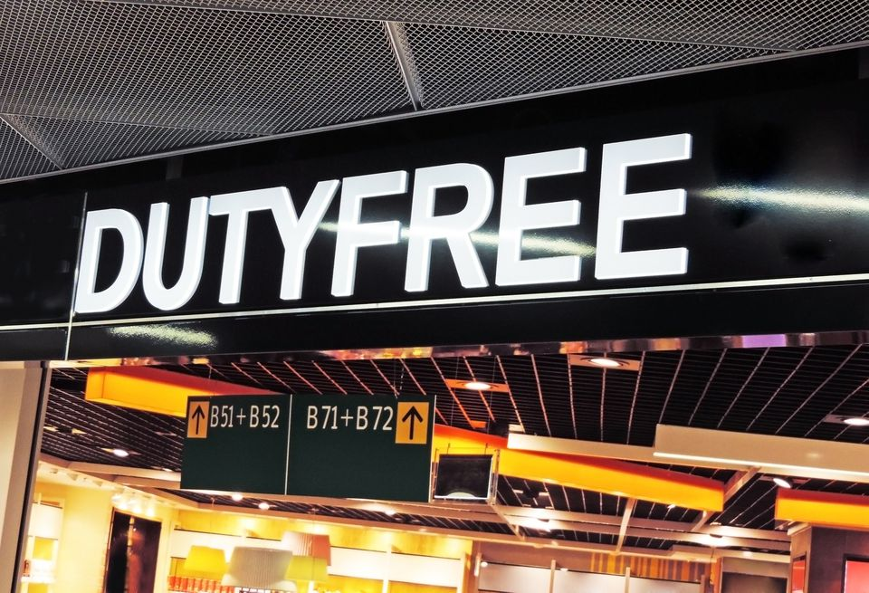 Duty Free sign at airport