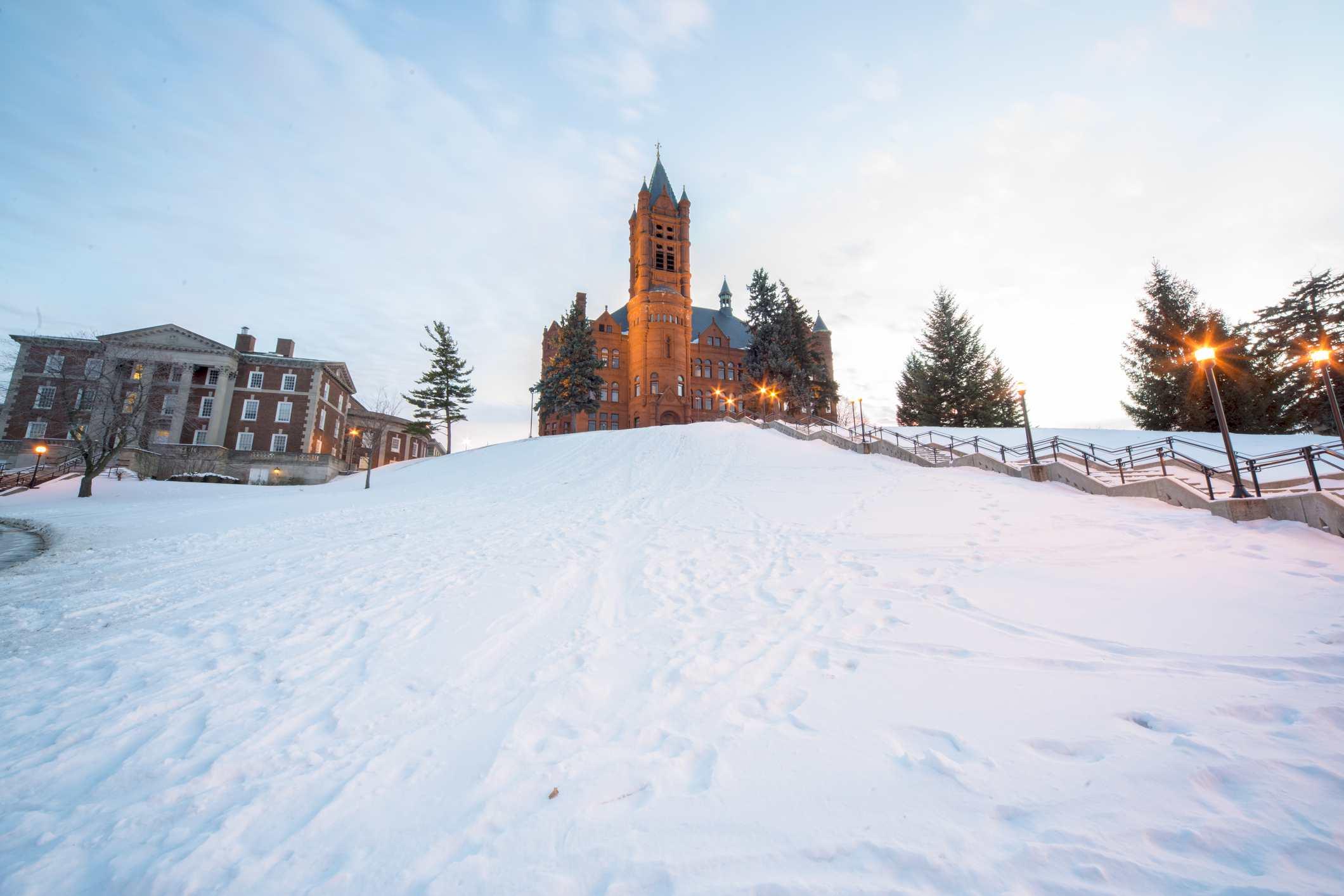 Syracuse University - Winter Scene - New York State
