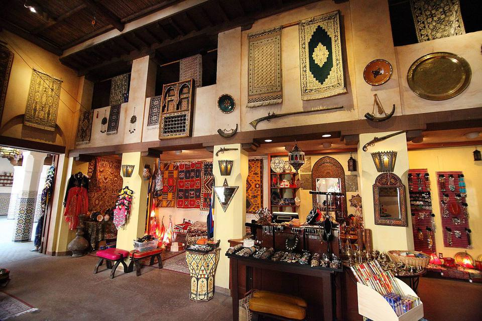 Casablanca Alfombras tienda ubicada en Marruecos Pabellón en World Showcase en Epcot Center.