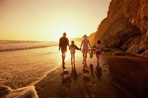 Family on a California Beach