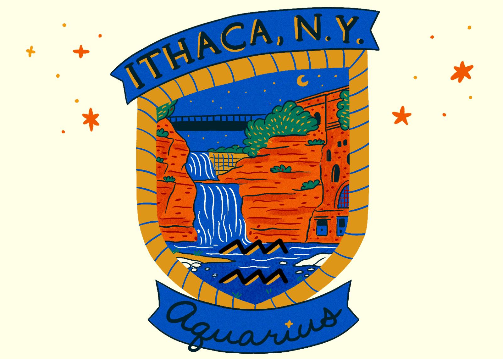 Illustration of Ithaca, NY