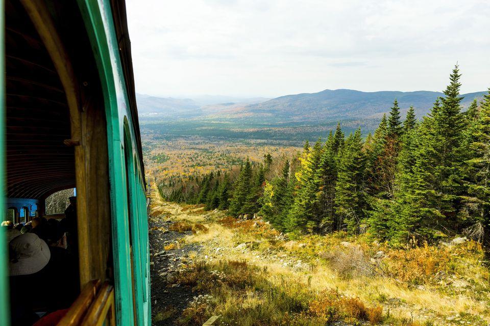 Mount Washington Cog Railway's guided train tour