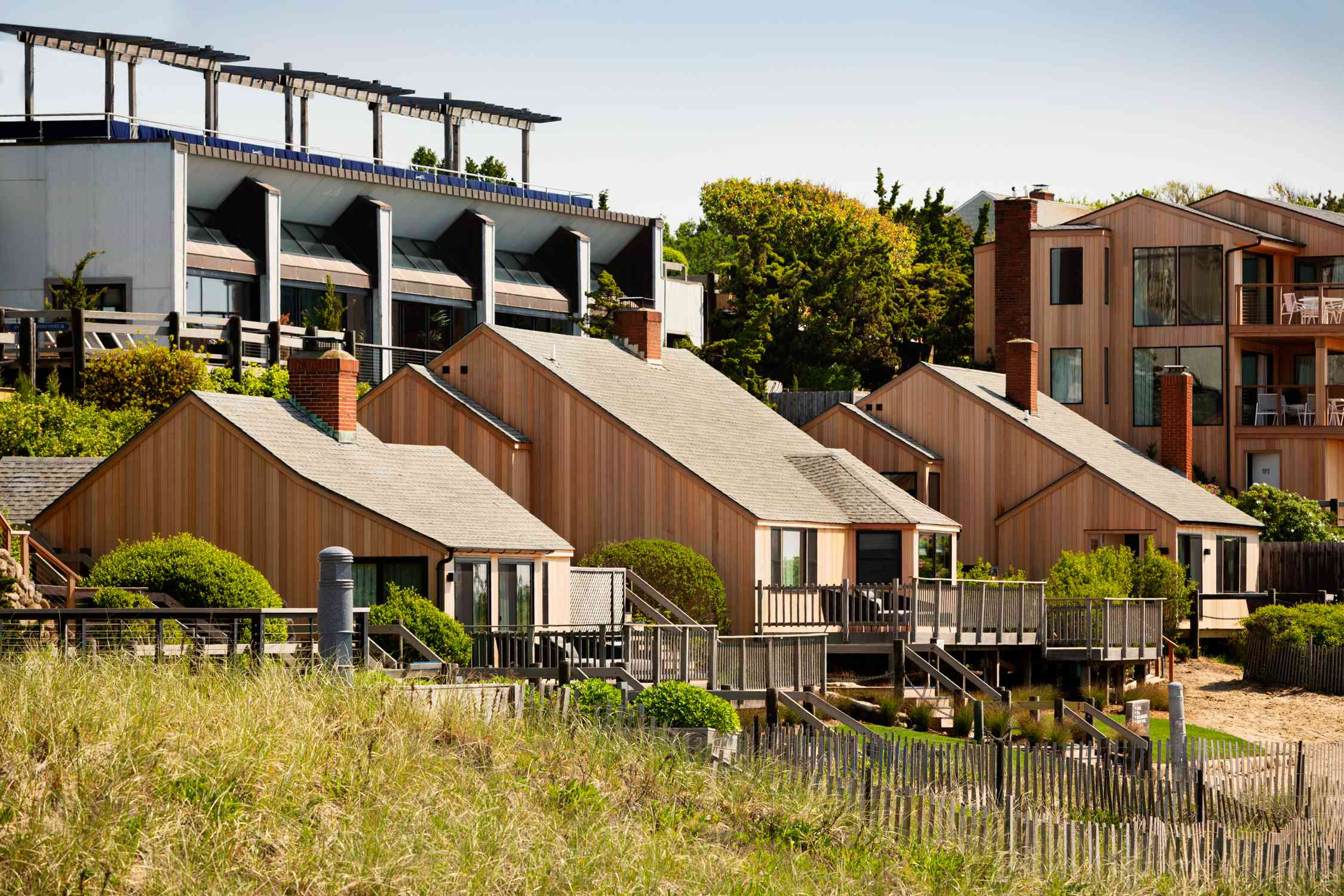 Private beachfront cottages at Gurney's Montauk Seawater Resort & Spa