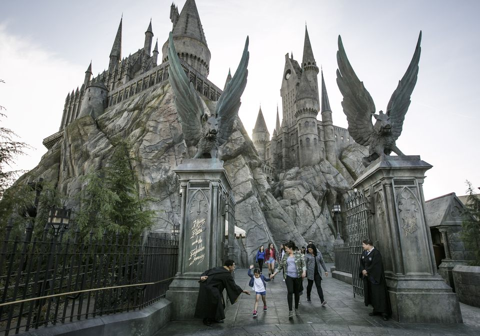 Hogwarts Castle at the Wizarding World of Harry Potter in Universal Studios Hollywood
