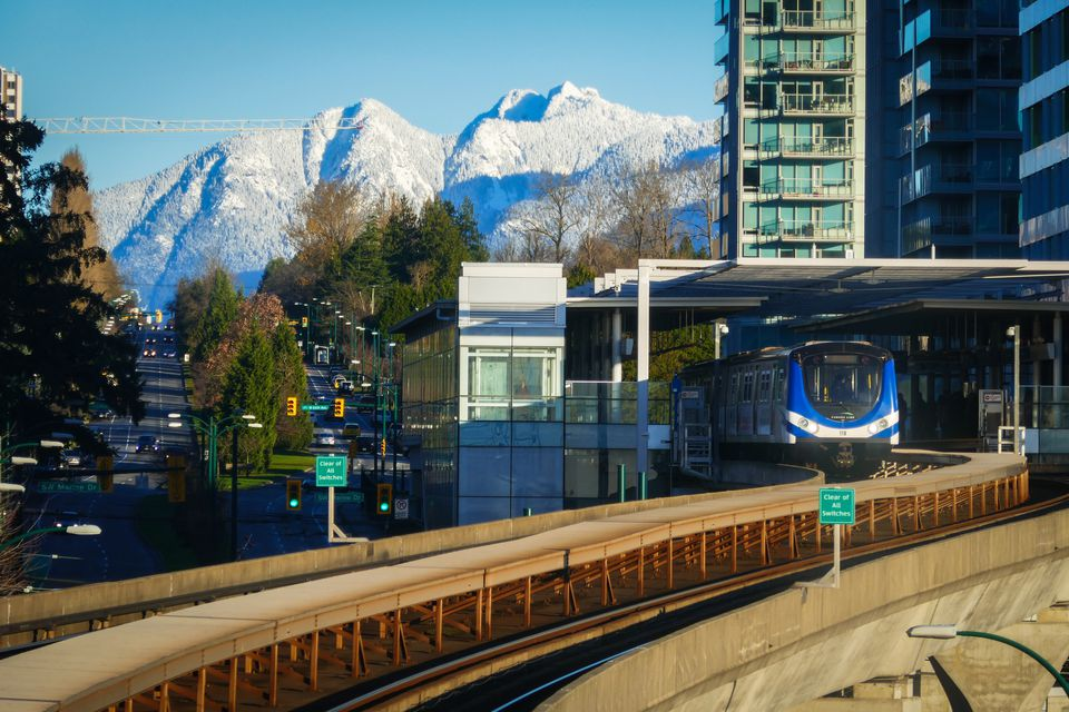 Canada Line Running Through Richmond and Vancouver City
