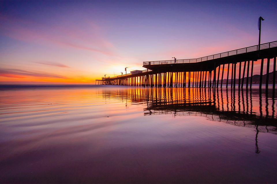 Pismo Beach Pier at Sunset