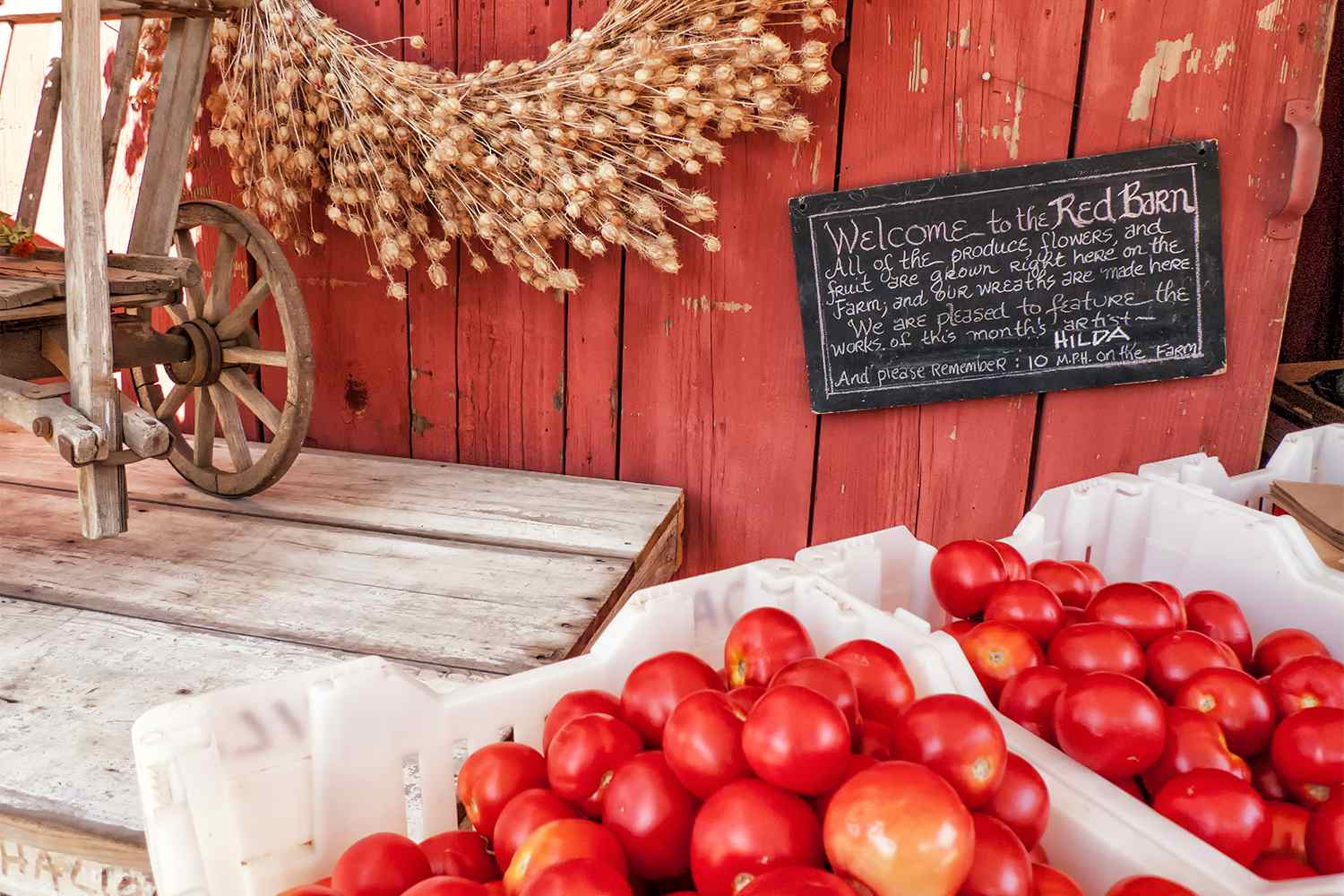 Fresh Produce at the Red Barn Store