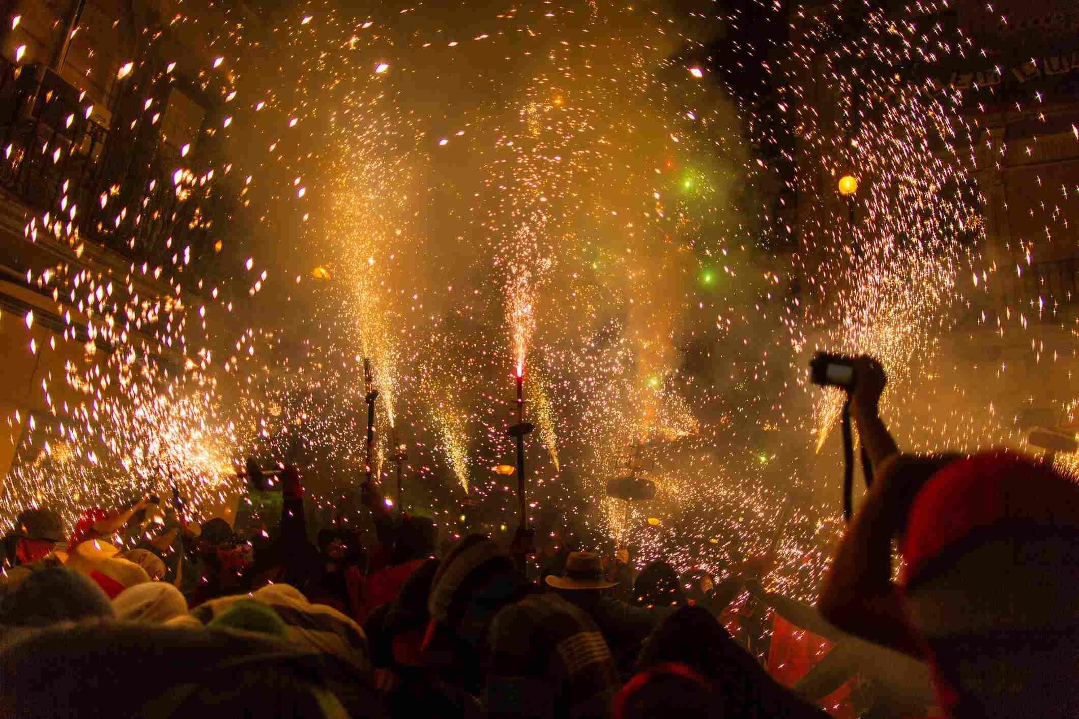 Correfoc celebration Barcelona, Spain