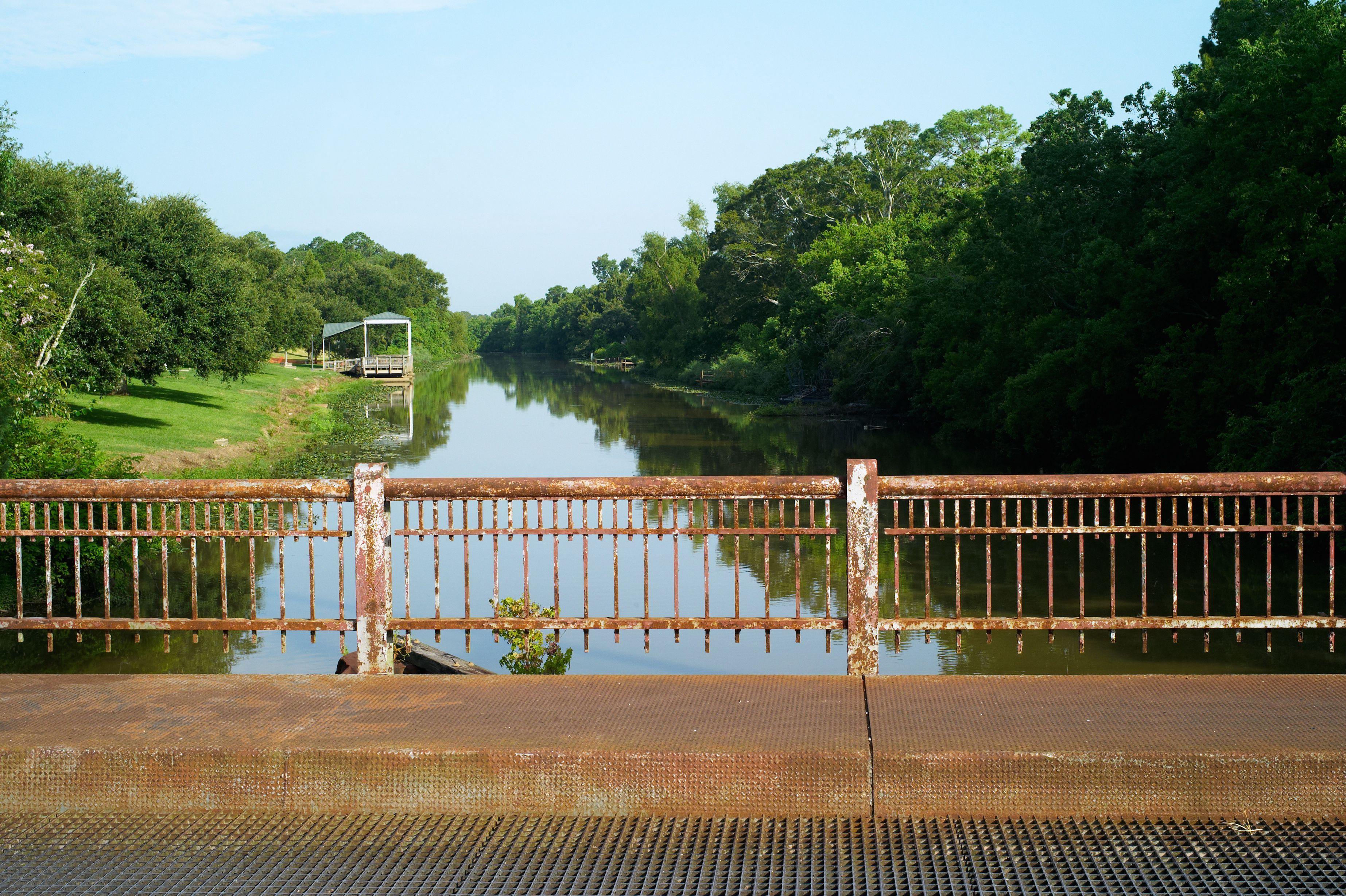 Bridge over Bayou Teche, Breaux Bridge, Louisiana, USA